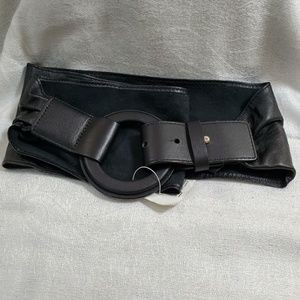 LOFT Black Soft Leather Belt (M) #764